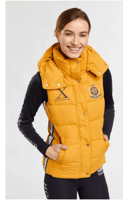 Christmas Gift Guide - Holland Cooper mustard gilet