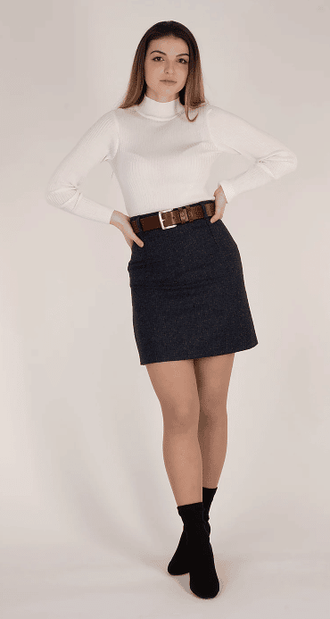 What to wear to the races - Cheltenham Ready - Vantage Atelier Tweed Skirt